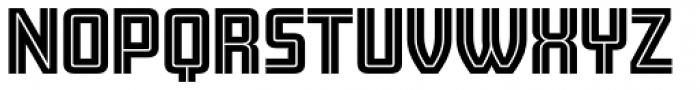 Amboy Inline Font LOWERCASE