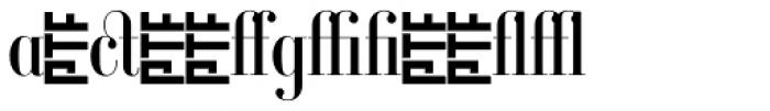 Ambroise Alt Firmin Regular Font LOWERCASE