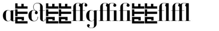 Ambroise Alt Regular Font LOWERCASE