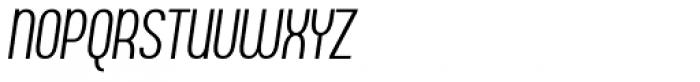 Ambrosia Light Condensed Italic Font UPPERCASE
