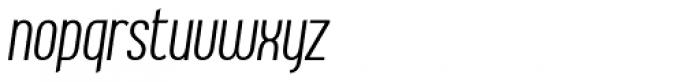 Ambrosia Light Condensed Italic Font LOWERCASE