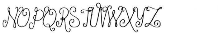 Ameliana Regular Font UPPERCASE