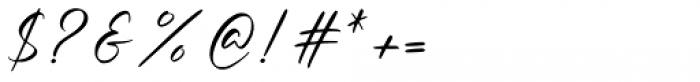 Amellian Gressida Script Font OTHER CHARS