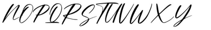 Amellian Gressida Script Font UPPERCASE