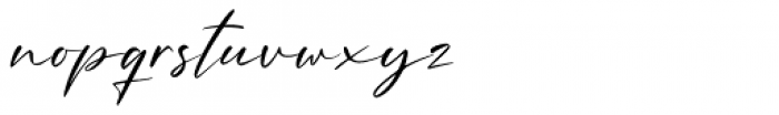 Amellian Gressida Script Font LOWERCASE