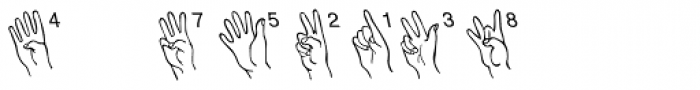 Amer Sign Alpha Font OTHER CHARS