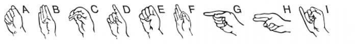 Amer Sign Alpha Font UPPERCASE