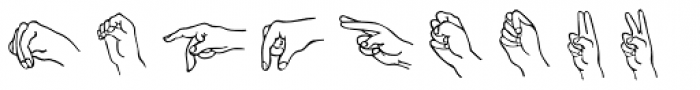 Amer Sign Alpha Font LOWERCASE