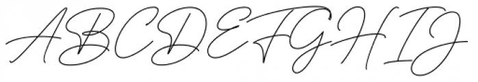 American Favorite Script Regular Font UPPERCASE