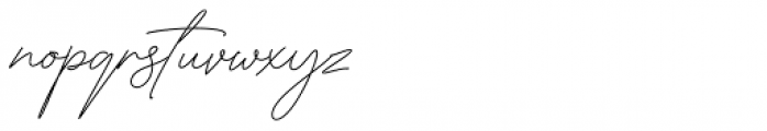 American Favorite Script Regular Font LOWERCASE