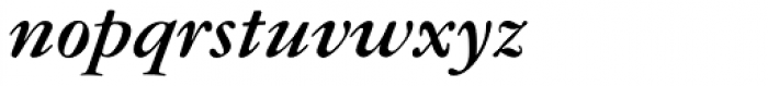 American Garamond Bold Italic Font LOWERCASE