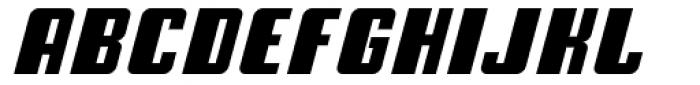 American Gothic Black Italic Font UPPERCASE