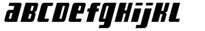 American Gothic Black Italic Font LOWERCASE