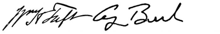 American Presidents Font UPPERCASE