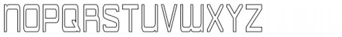 American Sensation Diet Hollow Font UPPERCASE