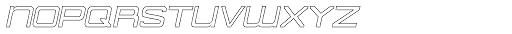 American Sensation Hollow Italic Font LOWERCASE