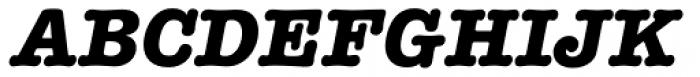 American Typewriter Bold Italic Font UPPERCASE