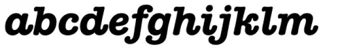 American Typewriter Bold Italic Font LOWERCASE