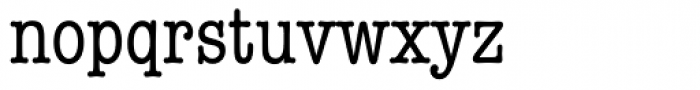 American Typewriter Cond A Font LOWERCASE