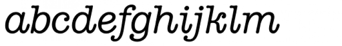American Typewriter Italic A Font LOWERCASE