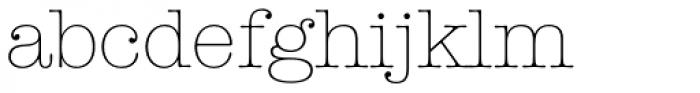 American Typewriter Light Font LOWERCASE