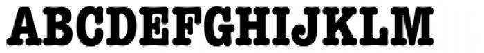 American Typewriter Pro Bold Condensed Font UPPERCASE