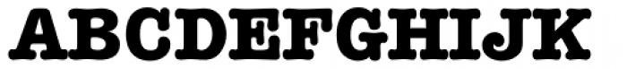 American Typewriter Pro Bold Font UPPERCASE