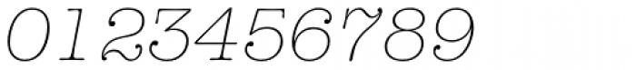 American Typewriter Pro Light Italic Font OTHER CHARS
