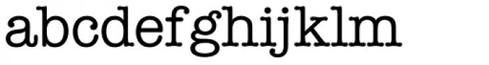 American Typewriter Pro Medium Font LOWERCASE