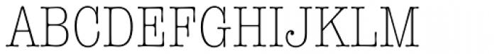 American Typewriter Std Light Condensed Font UPPERCASE