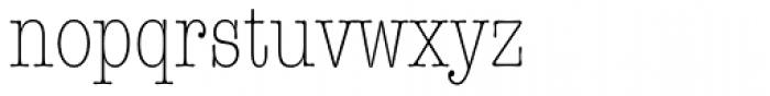 American Typewriter Std Light Condensed Font LOWERCASE