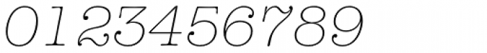 American Typewriter Std Light Italic Font OTHER CHARS