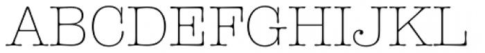American Typewriter Std Light Font UPPERCASE