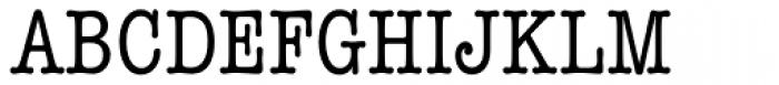 American Typewriter Std Medium Condensed Font UPPERCASE