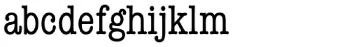 American Typewriter Std Medium Condensed Font LOWERCASE