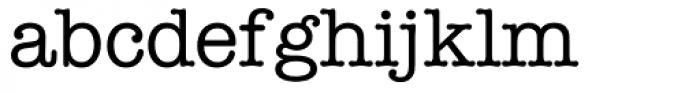 American Typewriter Font LOWERCASE