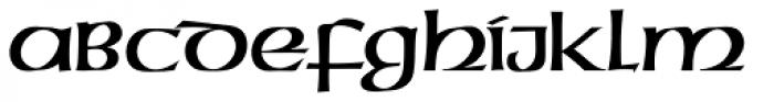 American Uncial D Font UPPERCASE