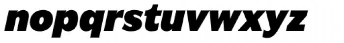Americane Black Italic Font LOWERCASE