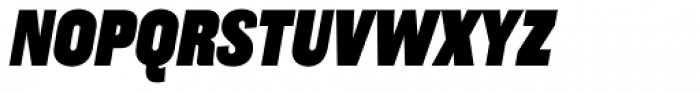 Americane Condensed Black Italic Font UPPERCASE