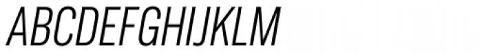 Americane Condensed Light Italic Font UPPERCASE