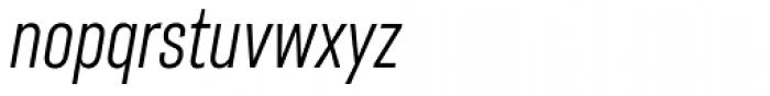 Americane Condensed Light Italic Font LOWERCASE