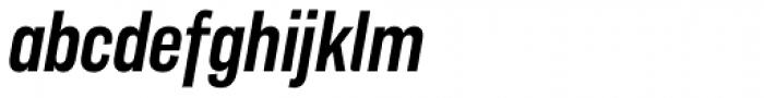 Americane Condensed Medium Italic Font LOWERCASE