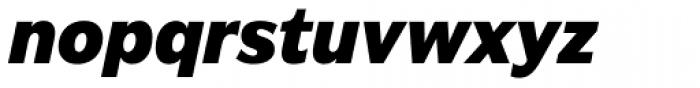 Americane Heavy Italic Font LOWERCASE