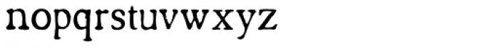 Americanus Regular Font LOWERCASE
