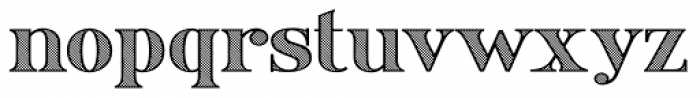 Ames' Shaded Font LOWERCASE