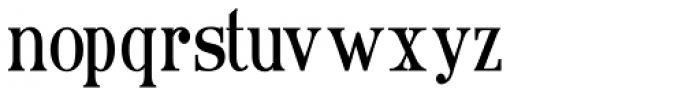 Ames' Text Condensed Light Font LOWERCASE