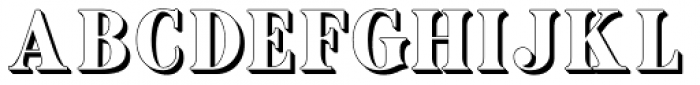 Ames' shadow Font UPPERCASE