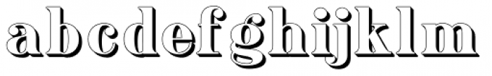 Ames' shadow Font LOWERCASE