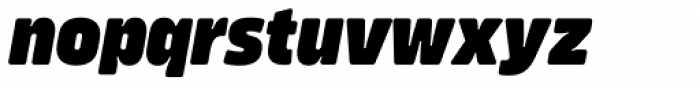Amfibia Black Condensed Italic Font LOWERCASE
