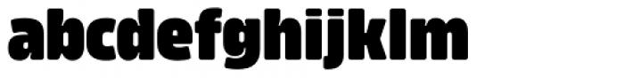 Amfibia Black Condensed Font LOWERCASE